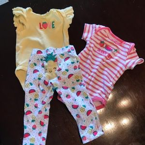❣️2 for $15❣️Baby Gear Summer Outfit